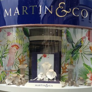 Martin & Co Summer Jewellery window graphics