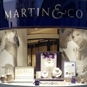 Martin & Co wedding window graphics